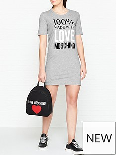 love-moschino-logo-slogan-short-sleeve-t-shirt-dress-grey