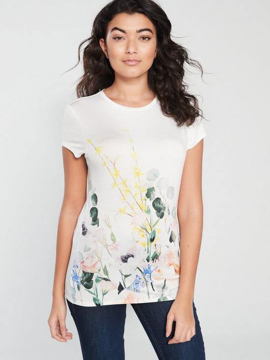 b1dee2489 Ted Baker Bobiiee Fitted Top - White | very.co.uk
