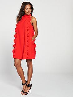 1e7697fe8ce6 Ted Baker Ted Baker Torriya Halterneck Scallop Ruffle Tunic Dress