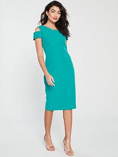 cc440572e Ted Baker Yandal Cut Out Shoulder Bodycon Dress - Turquoise