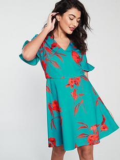 e4df1feab978 Ted Baker Chynaa Fantasia Neoprene Skater Dress - Turquoise