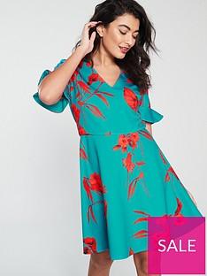 e1f559a7c57c72 Ted Baker Chynaa Fantasia Neoprene Skater Dress - Turquoise