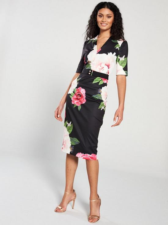 14b79d05b49 Ted Baker Ted Baker Gilanno Magnificent V-neck Bodycon Dress
