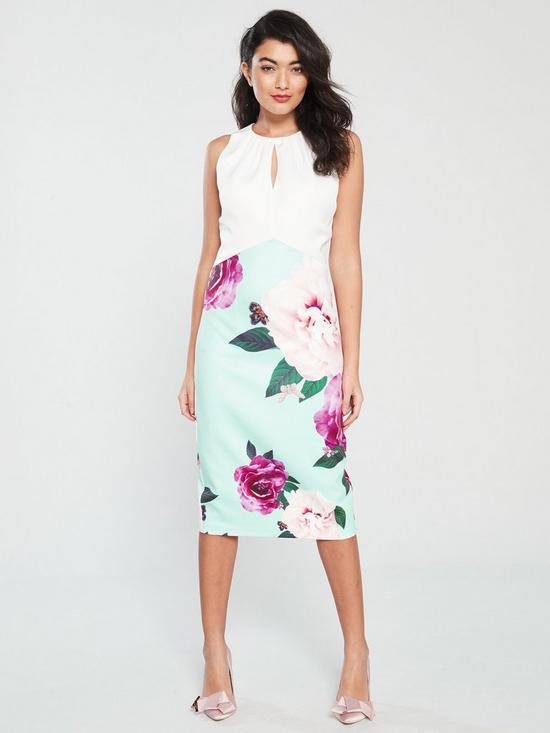 2f92e44a4 Ted Baker Annile Two Tone Magnificent Bodycon Dress - Pale Blue ...