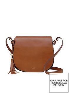 507a09333aa3 Radley Painters Mews Medium Flapover Crossbody Bag - Tan