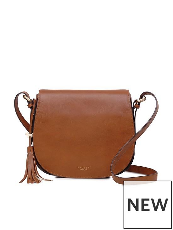 Radley Painters Mews Medium Flapover Crossbody Bag - Tan   very.co.uk 509871430e