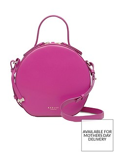 d92ae52a22a4 Radley Paper Mill Road Small Circular Cross Body Bag - Fuchsia