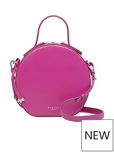 Radley Paper Mill Road Small Circular Cross Body Bag - Fuchsia e8a6b75e4b51c
