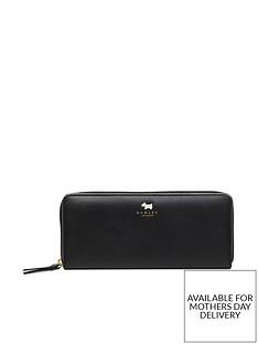 radley-college-green-large-zip-around-purse-black