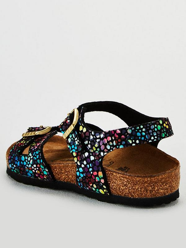 Girls Black Multi Rio Sandal