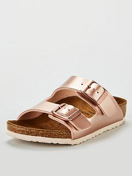 birkenstock-kids-arizona-metallic-sandals-rose-gold