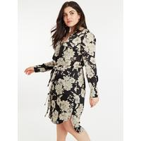 0160c0bee69 Oasis Curve Bold Bloom Shirt Dress - Multi Black