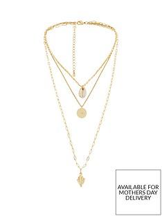 michelle-keegan-triple-layered-shell-necklace-goldnbsp
