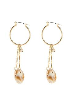 michelle-keegan-shell-chain-earrings-gold