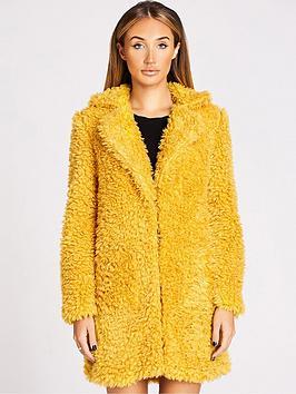 studio-mouthy-by-megan-mckenna-faux-fur-teddy-coat-mustard