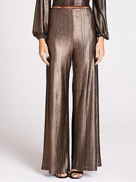 studio-mouthy-by-megan-mckenna-shinynbspflare-trousers-metallic