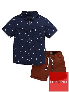 mini-v-by-very-boys-cactus-shirt-amp-short-set-multi