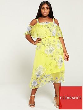 v-by-very-curve-cold-shoulder-asymmetric-floral-dress--nbspprint