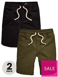 mini-v-by-very-boys-2-pack-ripstop-pull-on-shorts-blackkhaki