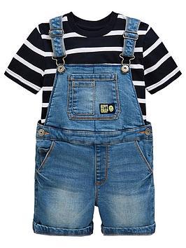mini-v-by-very-boys-denim-dungarees-and-stripe-t-shirt-set-blue