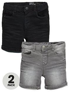 mini-v-by-very-boys-2-pack-denim-shorts-blackgrey