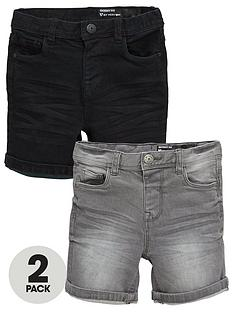 mini-v-by-very-boys-2-pack-pull-on-denim-shorts-blackgrey