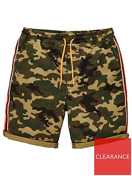 v-by-very-boys-camo-print-side-tape-detail-shorts-khaki