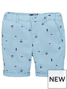 4727393fa6 V by Very Boys Palm Tree & Surf Board Printed Chino Shorts - Blue