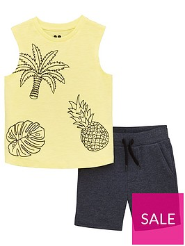 mini-v-by-very-boys-2-piece-palmpineapple-vest-and-shorts-set-blueyellow