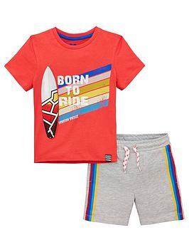 mini-v-by-very-boys-2-piece-surf-t-shirt-amp-short-setnbsp--redgrey