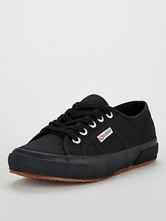 baa7520c6ce SUPERGA 2750 Cotu Classic Lace Up Plimsoll Pumps - Black