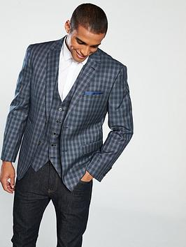 skopes-modinanbspchecked-suit-jacket-greynavy