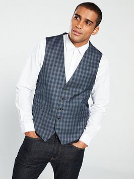 skopes-modinanbspchecked-waistcoat--nbspgreynavy