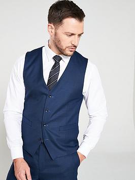 skopes-pesaronbsptextured-weave-waistcoat--nbspnavy