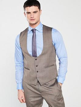 skopes-dunstallnbspchecked-waistcoat-brown