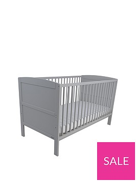 east-coast-hudson-cot-bed-grey