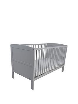 East Coast Hudson Cot Bed - Grey