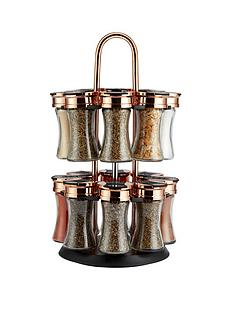 tower-rose-gold-and-black-rotating-spice-rack-and-16-jars-with-spices