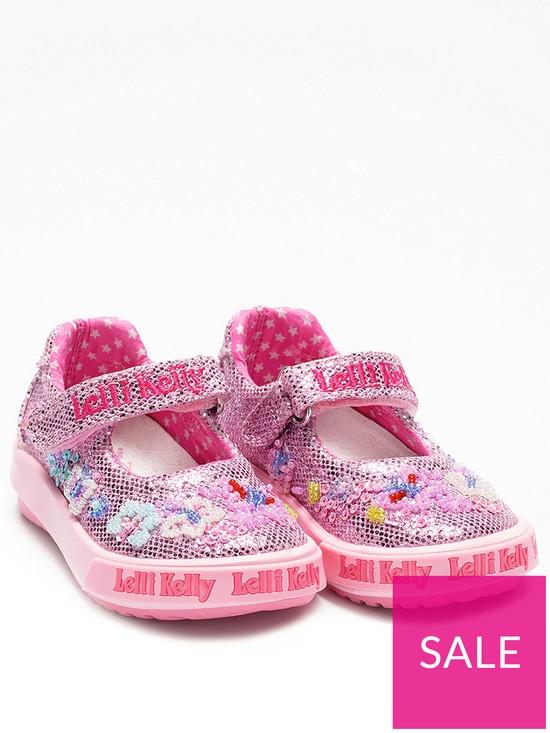 2331e9568b7e1 Lelli Kelly Glitter Daisy Baby Dolly Shoes - Pink | very.co.uk