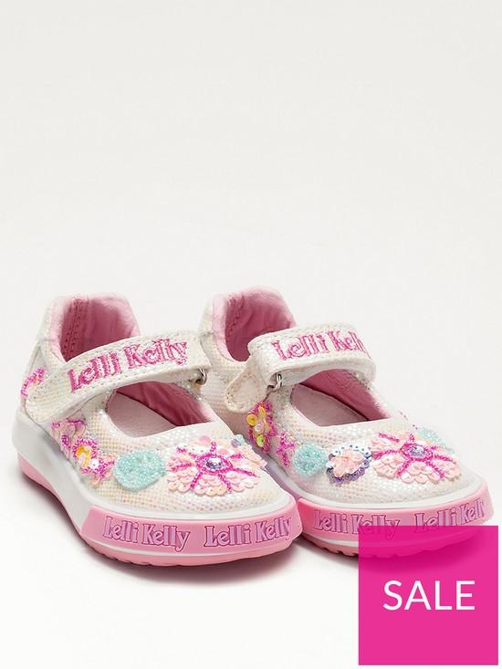 4e7dc286b27c6 Lelli Kelly Glitter Summer Baby Dolly Shoes - White | very.co.uk