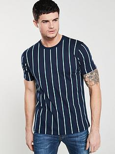 v-by-very-short-sleeved-vertical-stripe-t-shirt-navy