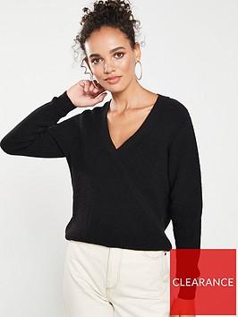 v-by-very-mock-wrap-over-jumper-black