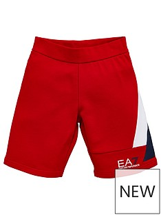 ea7-emporio-armani-boys-colourblock-jersey-shorts-red