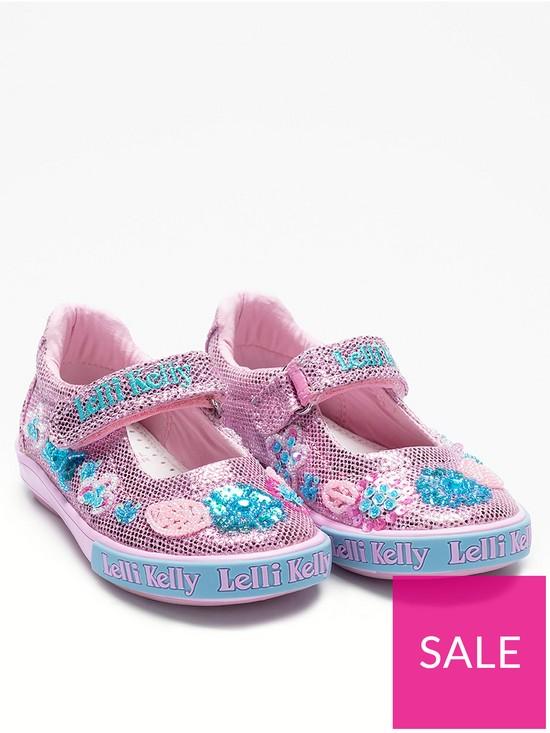 c0f0d6e7ec854 Lelli Kelly Glitter Daisy Dolly Shoes - Pink | very.co.uk
