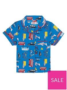 04d6ba1d4 Cath Kidston Boys Wheels and Wings Woven Pyjamas - Blue