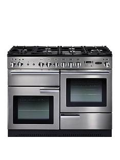 Rangemaster  PROP110DFFSS Professional + 110cm Wide Dual Fuel Range Cooker - Stainless Steel