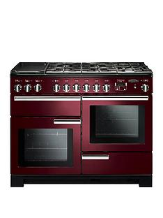 Rangemaster PDL110DFFCY Professional Deluxe 110cmWide Dual Fuel Range Cooker - Cranberry