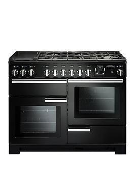 Rangemaster Pdl110Dffgb Professional Deluxe 110Cm Wide Dual Fuel Range Cooker - Black