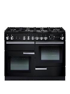 Rangemaster PROP110DFFGB Professional Plus110cmWide Dual Fuel Range Cooker - Black