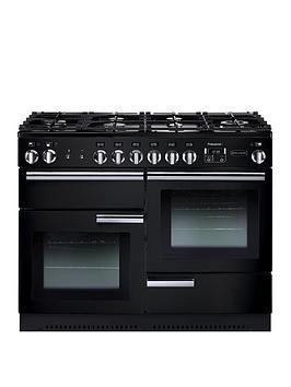 Rangemaster Prop110Dffgb Professional Plus 110Cm Wide Dual Fuel Range Cooker - Black